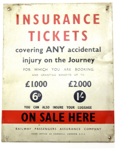 Insurance Tickets sign image