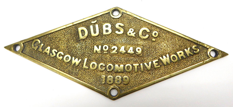 Dubs & Co. Locomotive Plate