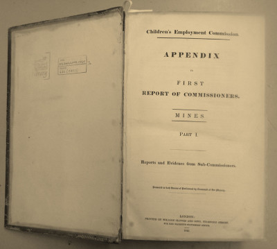 Children's Employment Commission. Appendix to the First Report of Commissioners. Mines. 1842 image