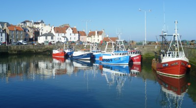 The Great War, a bedcover and Pittenweem image