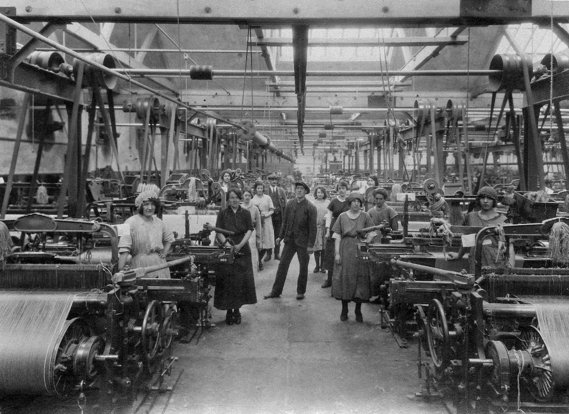 Rockwell Works - weaving shed with workers image