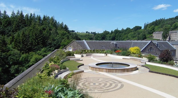 New Lanark's Roof Garden Labyrinth  image