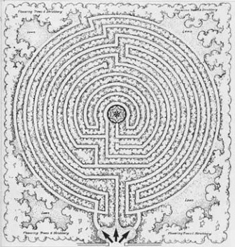 Plan of the New Harmony maze of 1939