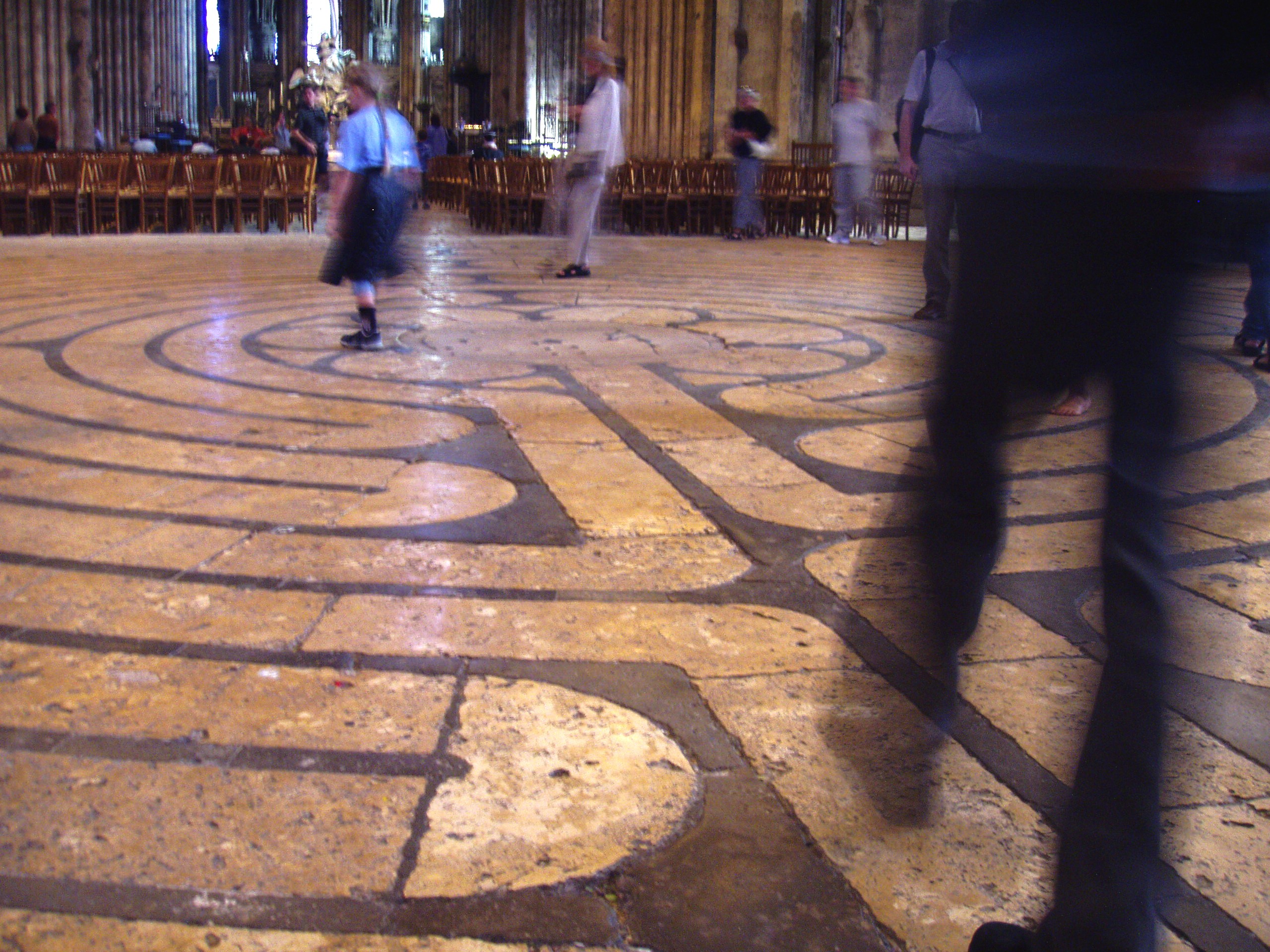 The Chartres Cathedral labyrinth