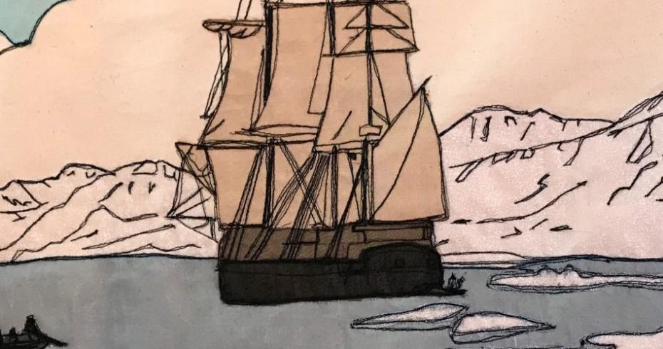 arctic whaling textile image