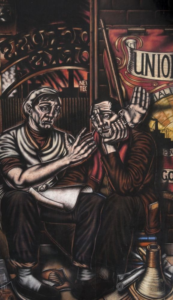 Two Trade Unionists artwork