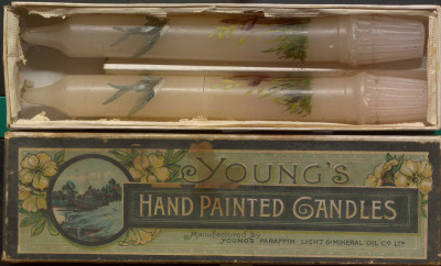 Young's hand painted candles image