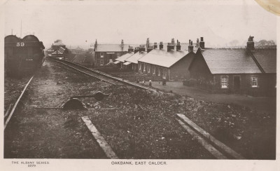Postcard of Oakbank Oil Company's private railway image