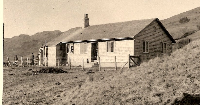 The new Colt house at Auchindrain, February or March 1954
