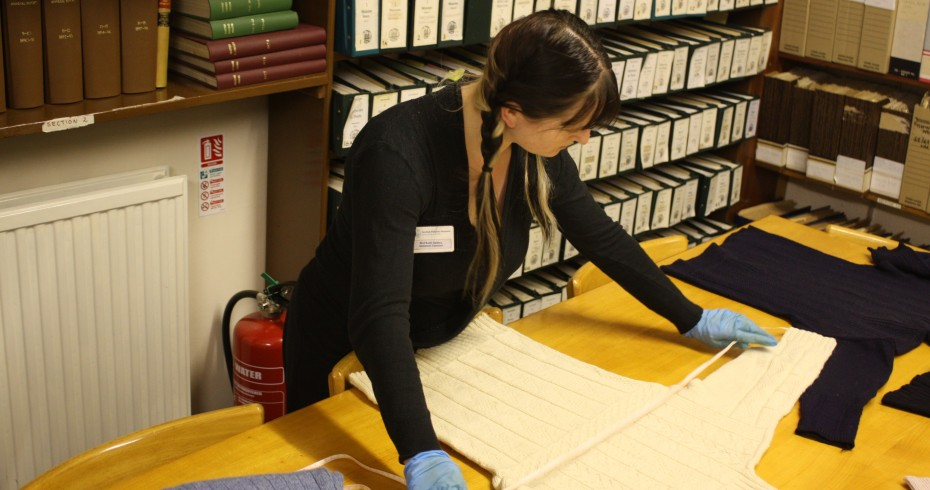 curator carrying out collections review