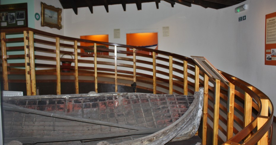 One of the many ramps at Scottish Fisheries Museum so visitors can access all areas.