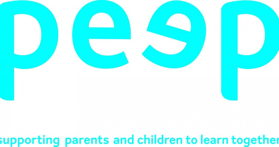 peep logo with subtitle supporting parents and children to learn together