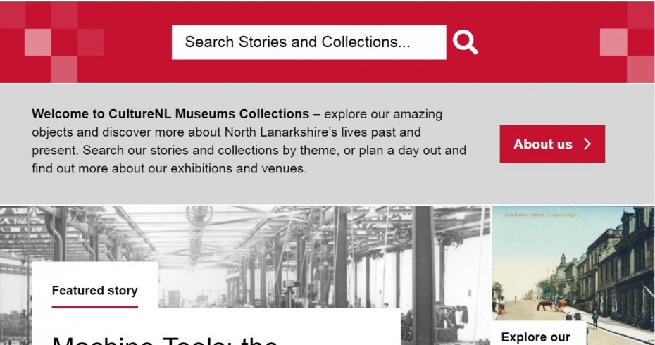 culture nl museums collections online home page screenshot