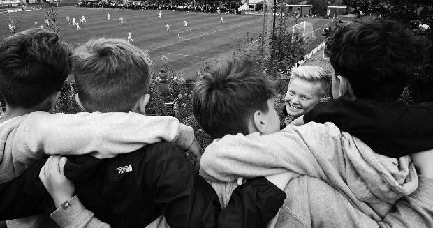 children at a football match