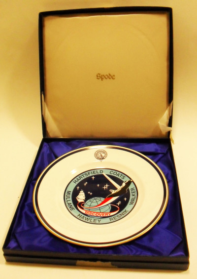 Dinner Plate produced for Discovery Space Shuttle Expedition image