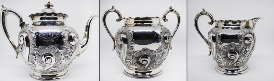 silver-plated teaset