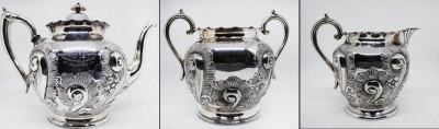 Silver-plated tea set  image