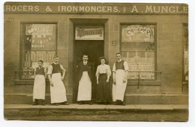 Postcard, Mungle's General Store, West Calder. image