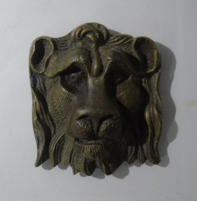 Lion head decoration for lantern astragal image