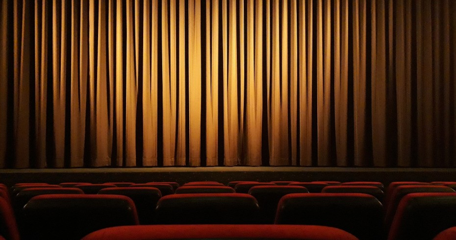cinema theatre seats curtain