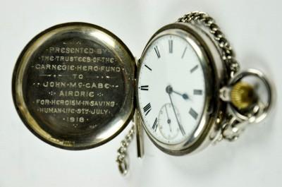 Pocket Watch awarded to John McCabe image