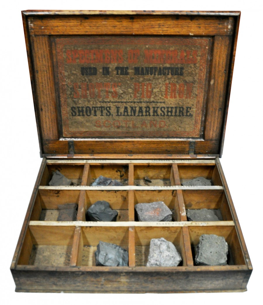 Box of Raw Materials for Pig Iron, 1870s or 1880s