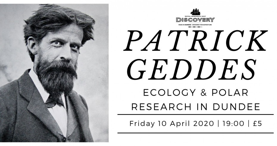 patrick geddes image of and talk title card