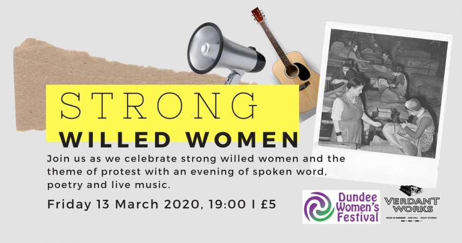 strong willed women event title card
