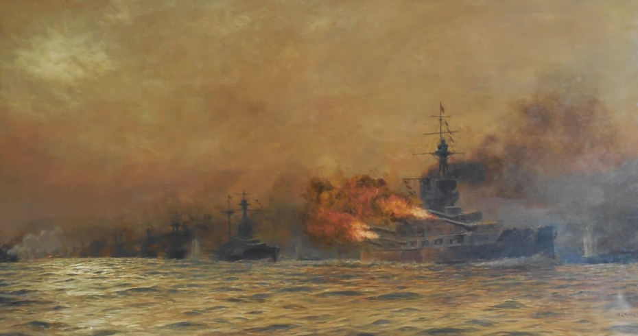 battle of jutland oil painting image