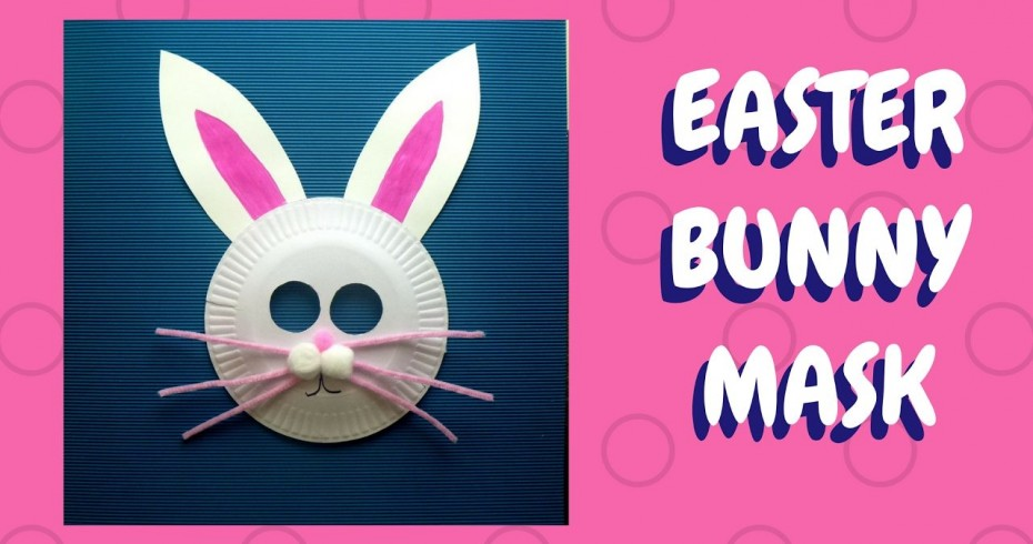 an example of an easter bunny mask made from a paper plate