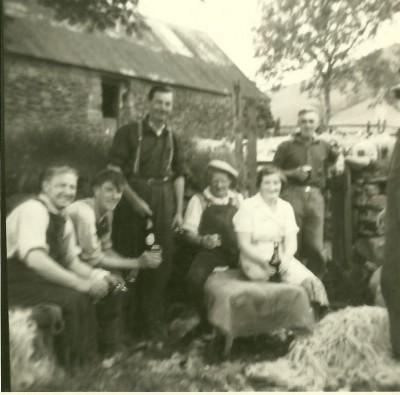 Photograph of sheep shearing at Auchindrain image