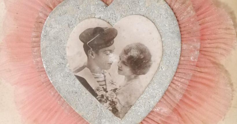 valentine's card on display at devil's porridge museum