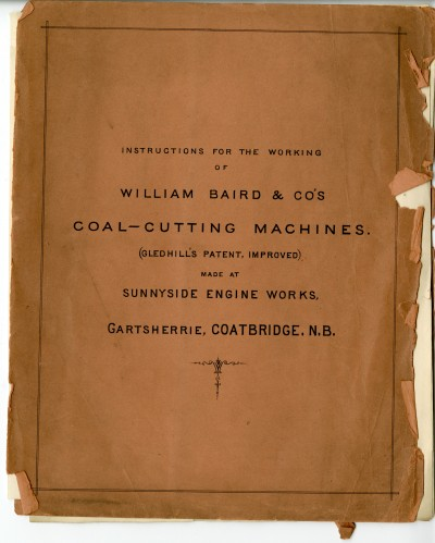 Instructions for the Working of Wm. Baird & Co.'s Coal Cutting Machine image