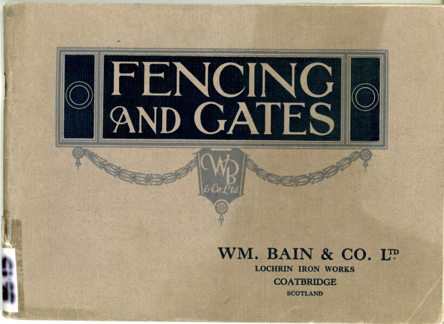front cover of fencing and gates brochure