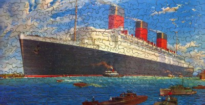 Cunard White Star Jigsaw Puzzle of RMS Queen Mary image