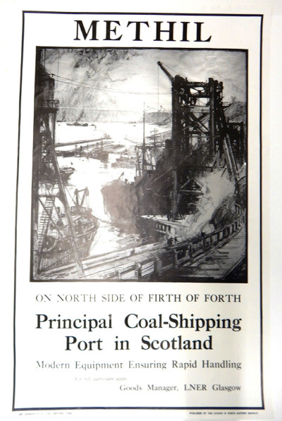 Methil Docks Poster by Frank H. Mason image